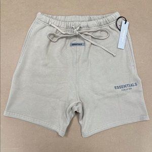 Essentials Fear of God Tan Fleece Shorts Medium